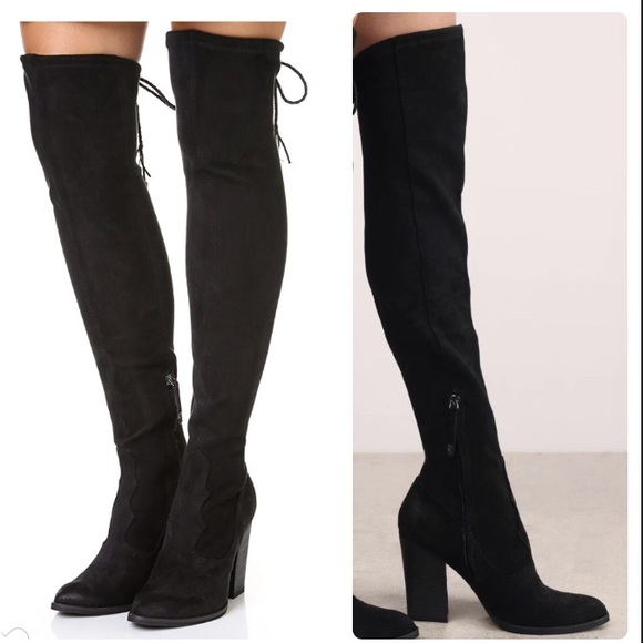 5bd664fc2b8 NWOB DOLCE VITA OVER THE KNEE BLACK BOOTS.